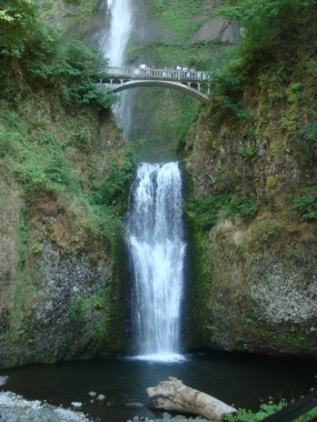 Multnomah Waterfall in Oregon