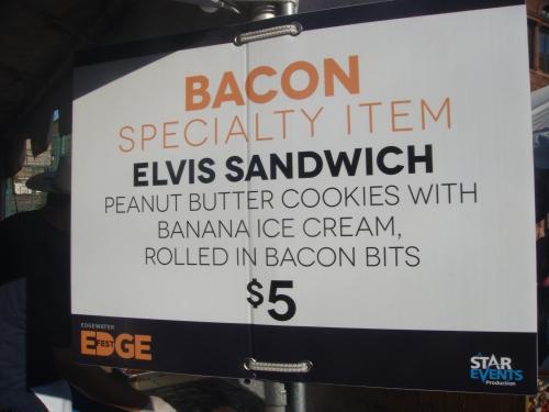 Bacon Elvis Sandwich at Edge Fest 2012