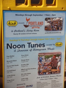 "Check out the ""Noon Tunes"" in Portland"