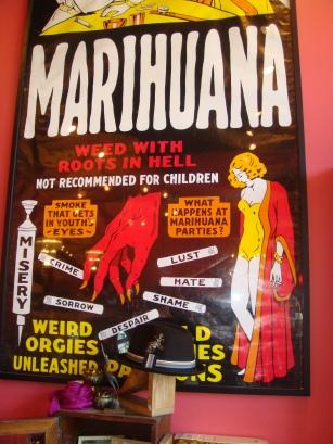Vintage Marihuana Poster in Portland