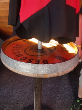 Table made out of a Beer Keg in Portland Oregon