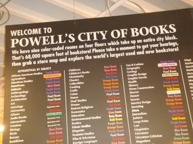 Powell's City of Books in Portland Oregon