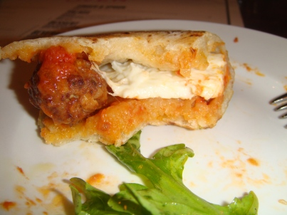 Puucia Meatball Sandwich at Oven and Shaker in Portland Oregon
