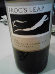 Frog's Leap Cab from Napa