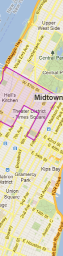 Theater District Map