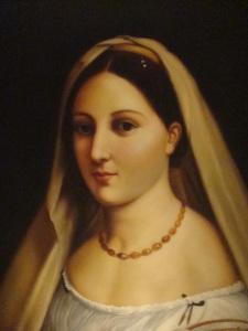 Raffaello, La Donna Velata 1512 replica at Fabio Piccolo Fiore in NYC