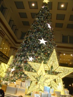 Tree at the Walnut Room at Macy's in Chicago