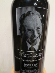 Brother Timothy Special Wine from Silver Oaks o display at the CIA