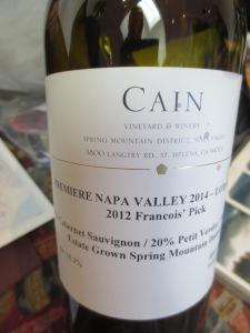 Cain in Napa 2014