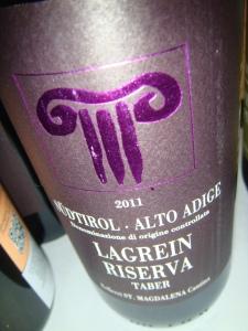 Tre Bicchieri 2014 Chicago; Lagrein Riserva from Alto Adige