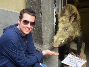 Did he feed that Tuscan boar an acorn?