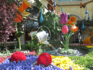 The atrium in the Bellagio in Las Vegas
