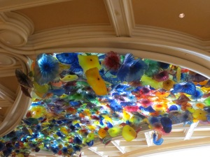 Dale Chihuly Sculpture at the Bellagio in the lobby.