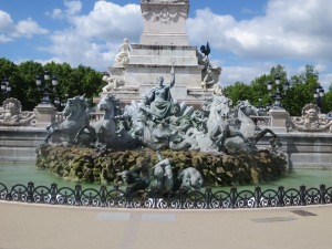 Quincones Square Fountain in Bordeaux