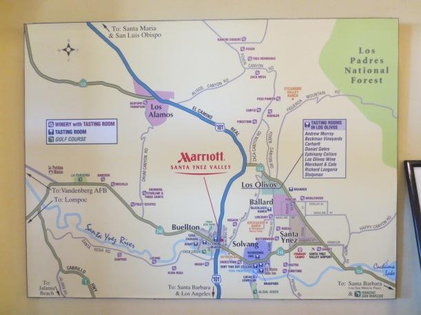 Vino con Vista Map of a section of Santa Barbara Country