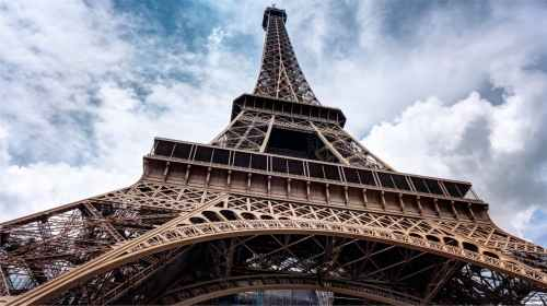 low angle photo graph of eiffel tower