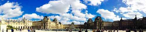 paris blue sky panorama cityscape