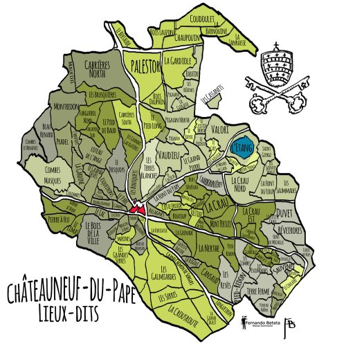 Image result for chateauneuf du pape map